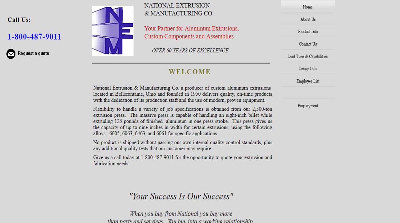 National Extrusion & Manufacturing Co.