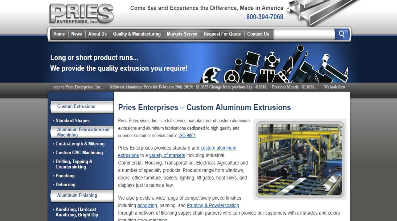 Pries Enterprises, Inc.