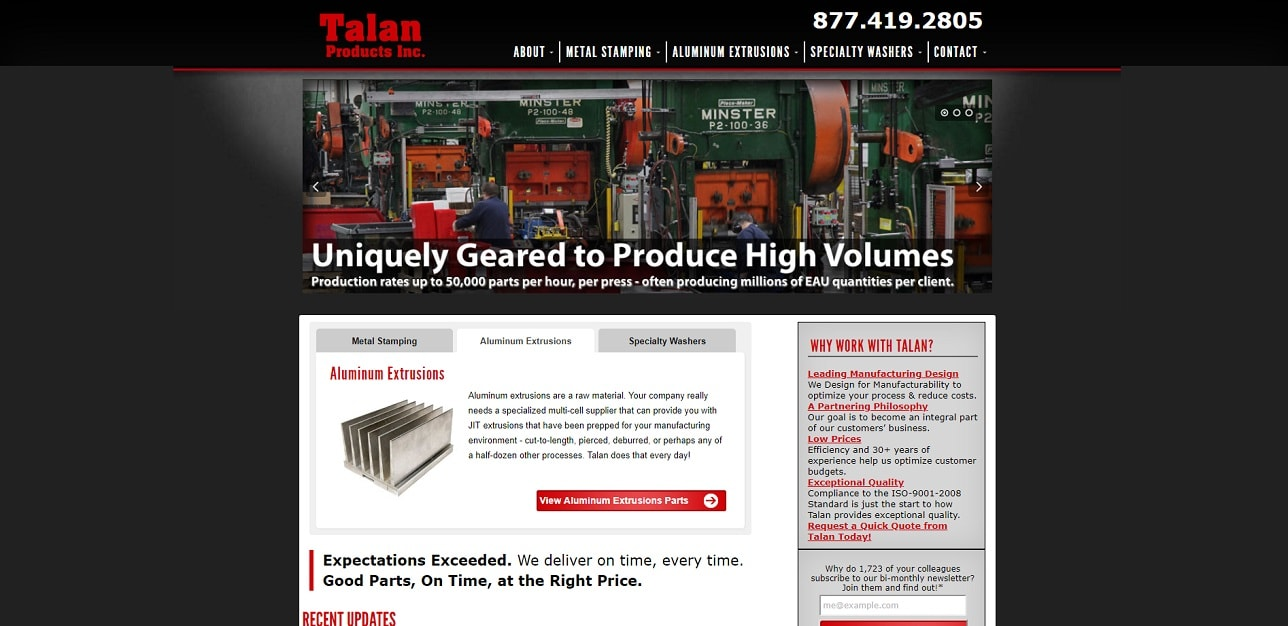 Talan Products Inc.
